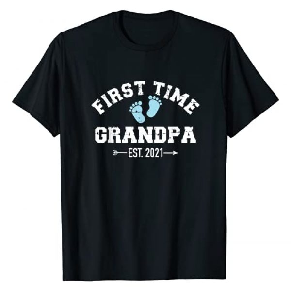 Grandpa 2021 gifts Graphic Tshirt 1 First time Grandpa 2021 T-Shirt