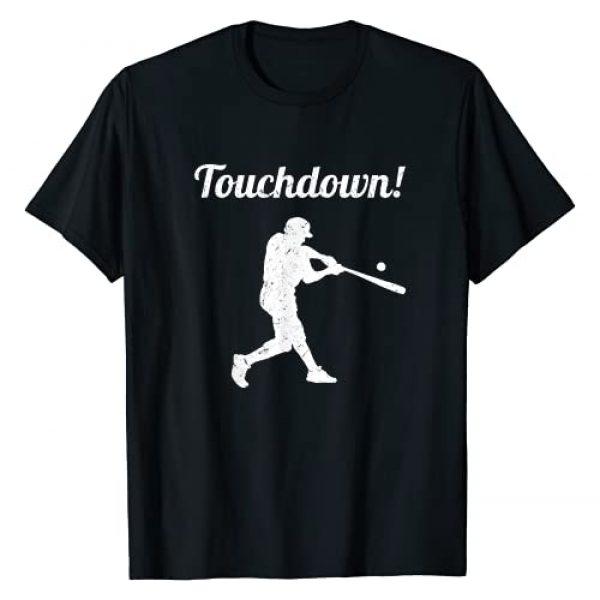 Funny Baseball Apparel & Gifts For Men Women Graphic Tshirt 1 Touchdown Baseball Vintage Retro Baseball Player Gift T-Shirt