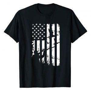 Lai Tees US Graphic Tshirt 1 Cool Distressed Vintage American USA Flag Duck Hunting T-Shirt