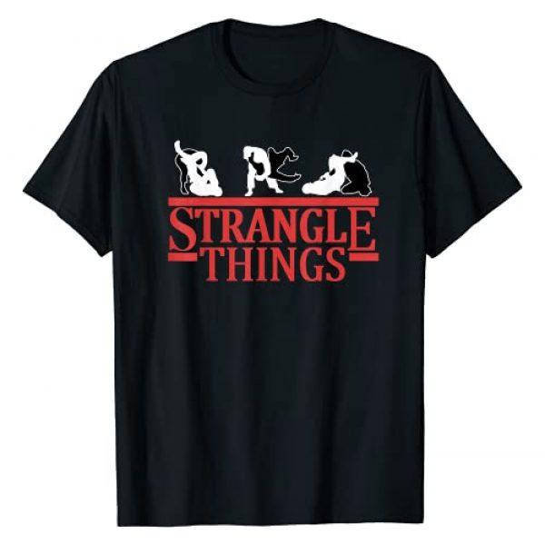 Jiu Jitsu Shirts BJJ MMA Jujitsu Shirts For Men Graphic Tshirt 1 Jiu Jitsu Shirts Strangle Things Mens BJJ MMA Funny Jujitsu T-Shirt