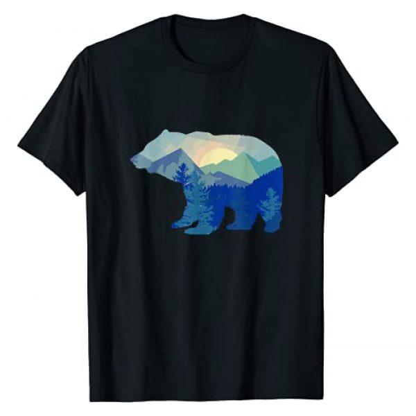 Bear Silhouette Mountain Wildlife Animal Gifts Graphic Tshirt 1 Bear Silhouette Mountain Wildlife Animal I Great Bear T-Shirt