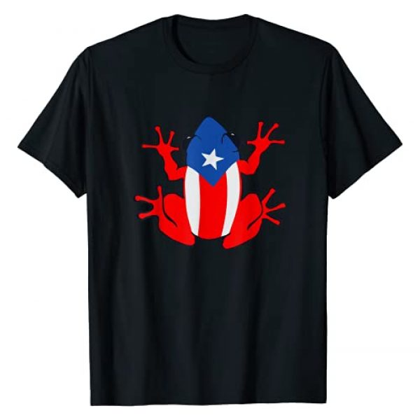 Puerto Rican Cultural Heritage Frog Gits Graphic Tshirt 1 Patriotic Puerto Rico Flag Frog Puero Rican Culture Roots T-Shirt