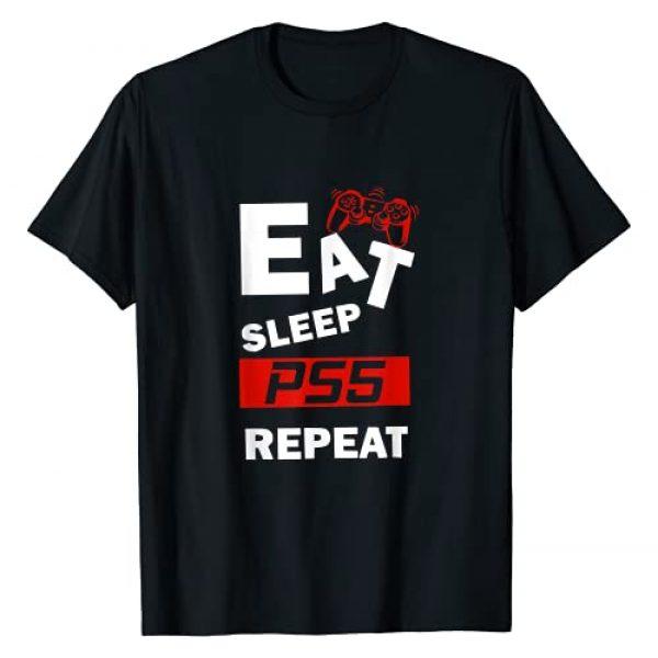Eat Sleep PS5 Repeat Gamer Gift Graphic Tshirt 1 Funny Eat Sleep PS5 Repeat Gift for Lover Video Game T-Shirt