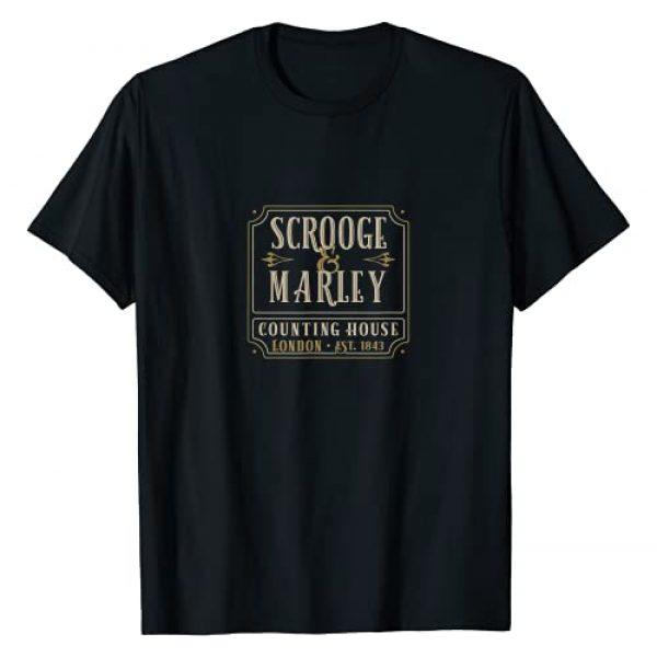 Tuscan Radar Designs Graphic Tshirt 1 Scrooge & Marley Counting House London Established 1843 T-Shirt