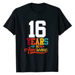 Bday Outfit Birthday Men Women Vintage Retro Graphic Tshirt 1 16 Years Of Being Awesome Gifts 16 Years Old 16th Birthday T-Shirt