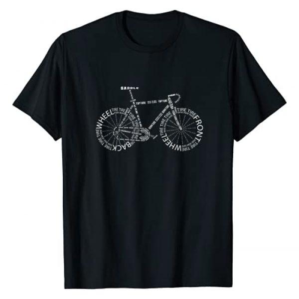 Cycling Biking Graphics & Presents - Bike Builder Graphic Tshirt 1 Bicycle Anatomy -Racer Bike Parts Apparel - Cyclist Gift T-Shirt