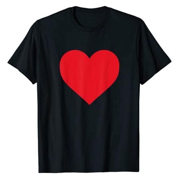 Lucky Cat Goods Graphic Tshirt 1 Short Sleeve Red Heart Valentine's Day Women Girls Top T-Shirt
