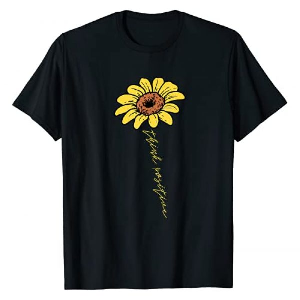 BoredKoalas Positivity Motivational Shirts Gifts Graphic Tshirt 1 Sunflower Think Positive Positivity Motivational Saying Gift T-Shirt