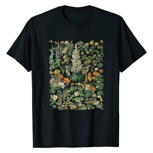 Kee Floral Chart Graphic Tshirt 1 Vintage Inspired Flower Botanical Chart T-Shirt