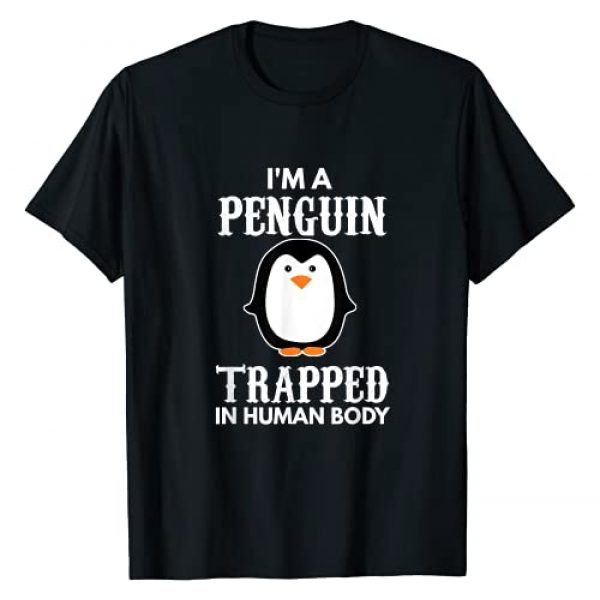 Funny Animal Gifts For Kids, Men And Women Graphic Tshirt 1 I'm A Penguin Trapped In Human Body Gift Penguin Bird T-Shirt