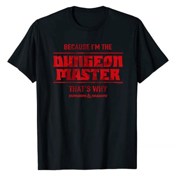 Dungeons & Dragons Graphic Tshirt 1 Because I'm The Dungeon Master T-Shirt