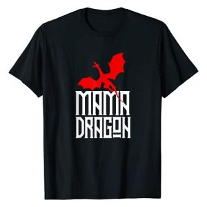 Dragon Graphic Tshirt 1 Mama Dragon Shirt Matching Family Tribe Red Mom Mother Mum T-Shirt