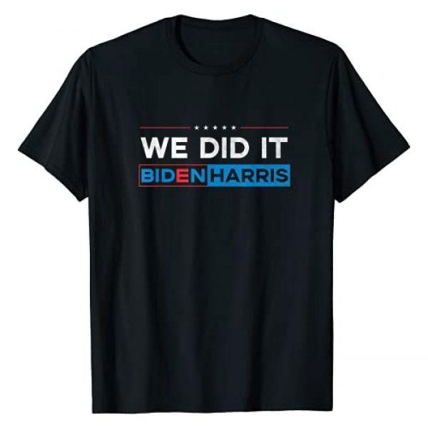 Biden Harris by Zum2 Graphic Tshirt 1 Biden Harris Inauguration Shirt - We Did It! T-Shirt
