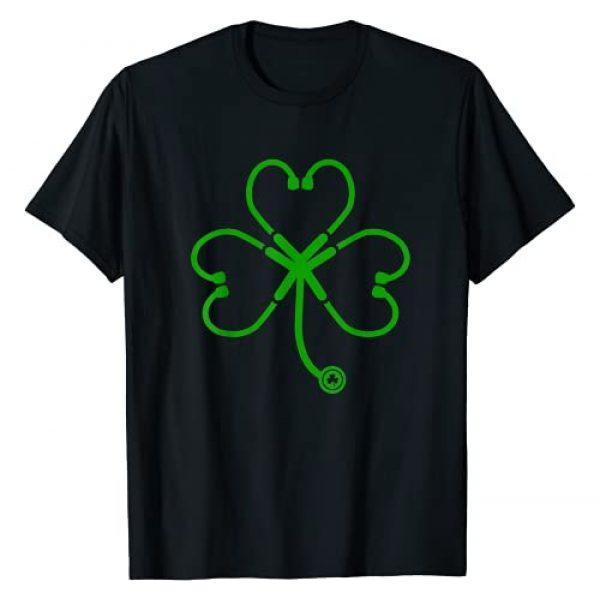 Funny Shamrock Stethoscope Medical Nursing gift Graphic Tshirt 1 Heart Shamrock Stethoscope Nurse RN LPN, LVN St Patricks Day T-Shirt
