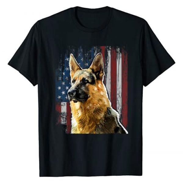 German Shepherd Shirts Graphic Tshirt 1 Patriotic German Shepherd American Flag Dog Gift Men Women T-Shirt