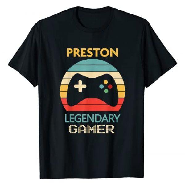 Zum2 Preston Name Gift Graphic Tshirt 1 Preston Name Gift - Personalized Legendary Gamer T-Shirt