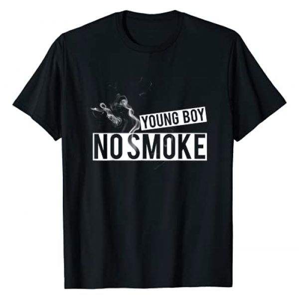 "YoungBoy - No Smoke t-shirt Graphic Tshirt 1 ""YOUNGBOY - NO SMOKE"" Stop Smoking   Healthy life Shirt T-Shirt"
