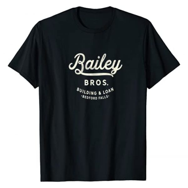 It's A Wonderful Life Novelty Tees and Gifts Graphic Tshirt 1 Bailey Brothers Building and Loan. Classic. George Bailey T-Shirt