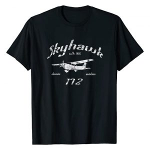 Designed For Flight Graphic Tshirt 1 172 Skyhawk Airplane Classic Vintage Aviation Private PIlot T-Shirt