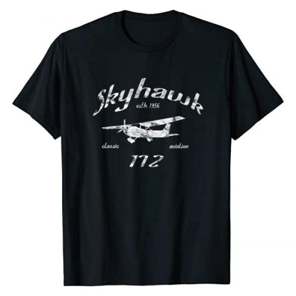 Designed For Flight Graphic Tshirt 1 172 Skyhawk Airplane Classic Vintage Aviation Private PIlot T-Shirt