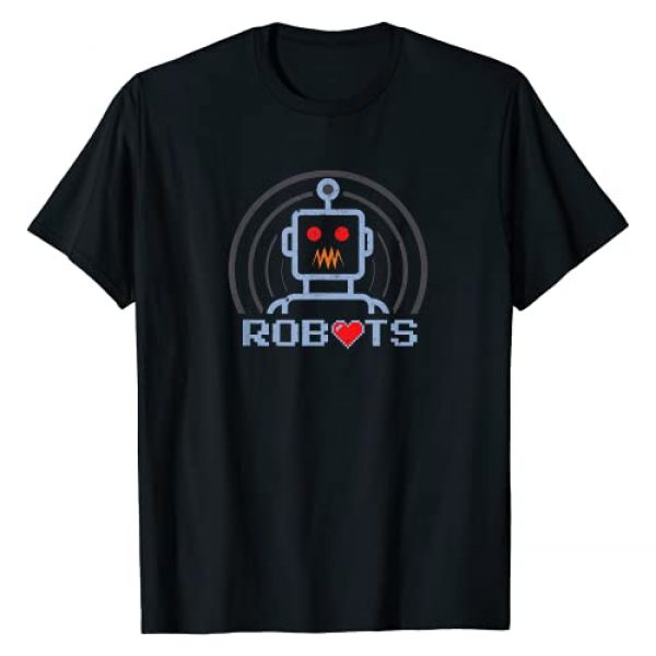 TwistedCity Robotics Gifts for Kids & Adults Graphic Tshirt 1 Funny Retro Robots With Heart Cool Robotics Lover Gifts #4 T-Shirt