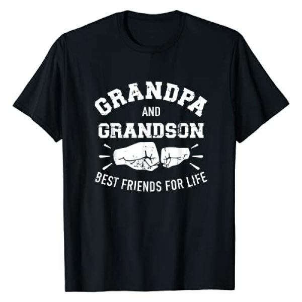 Grandpa Gifts 4EVER Graphic Tshirt 1 Grandpa and grandson friends for life T-Shirt