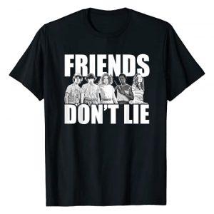 Stranger Things Graphic Tshirt 1 Netflix Stranger Things Friends Don't Lie Group Shot T-Shirt