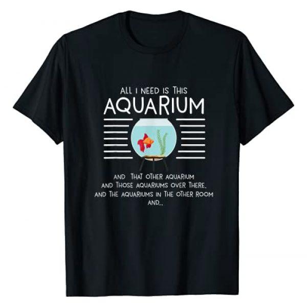 Aquarium Tech Aquarist Fish Tank Hobbyist Gifts Graphic Tshirt 1 Aquarist Aquascaping Aquascaper I Need Aquarium T-Shirt
