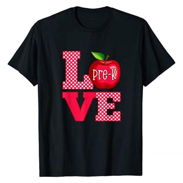Teacher Appreciation Teaching Gift Ideas Graphic Tshirt 1 Love Pre-K Cute Preschool Teacher Gift T-Shirt