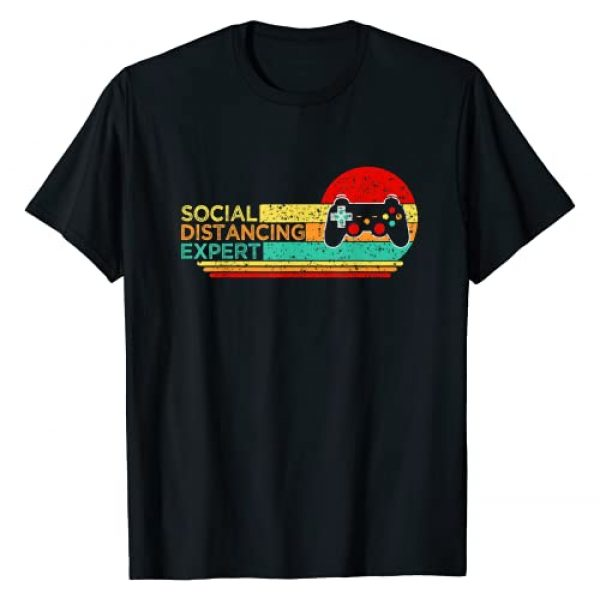 Social Distance Gaming Expert Vintage Gift Gamers Graphic Tshirt 1 Social Distancing Expert Gaming Vintage Video Gamer Gift tee T-Shirt