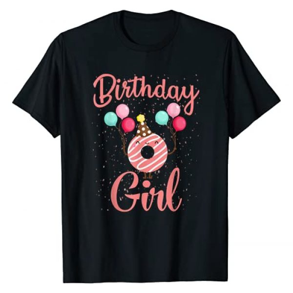 Funny Donut Birthday Girl T-Shirt Graphic Tshirt 1 Birthday Girl Donut-Funny Matching Birthday Girl Party T-Shirt
