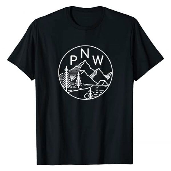 PNW Outdoor Apparel Graphic Tshirt 1 PNW Pacific Northwest Outdoors Trees Mountain T-Shirt