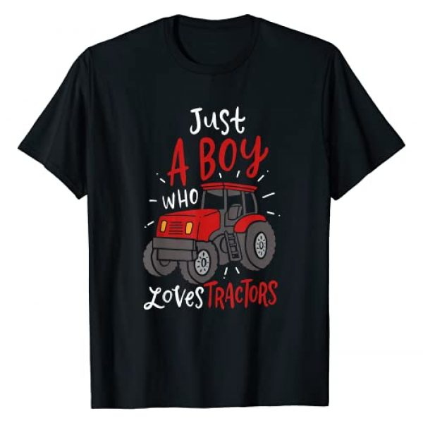 Farming Gifts Graphic Tshirt 1 Just A Boy Who Loves Tractors T-Shirt