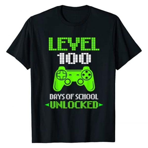 Kids: 100th Day Of School T-Shirt Graphic Tshirt 1 100th Day Of School Shirt For Kids Video Games Boy Girl Gift T-Shirt