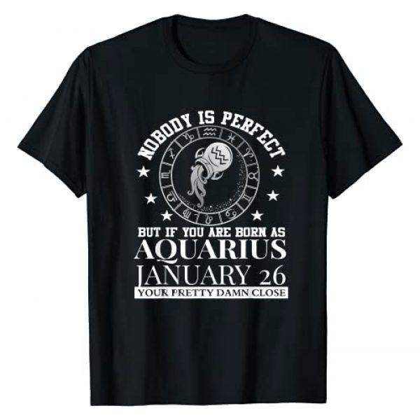 Funny Aquarius Zodiac Sing Perfect Tees Graphic Tshirt 1 Aquarius Zodiac For January 26 Women Man Kids Birthday Gift T-Shirt