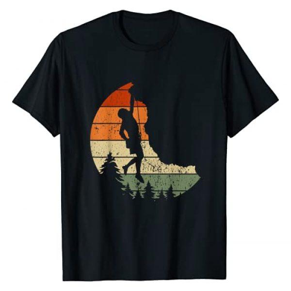 Rock Climbing Vintage Mountaineer Gifts Graphic Tshirt 1 Retro Rock Climbing Vintage Climber Gift T-Shirt