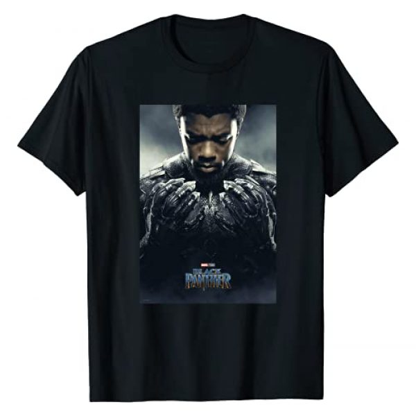 Marvel Graphic Tshirt 1 Black Panther Avengers T'Challa Poster T-Shirt