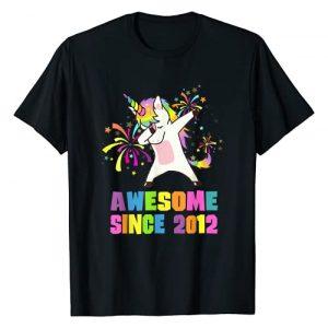 Unicorn Birthday Shirts Awesome Since 1999 to 2018 Graphic Tshirt 1 9 Years Old 9th Birthday Awesome Since 2012 Unicorn T-Shirt