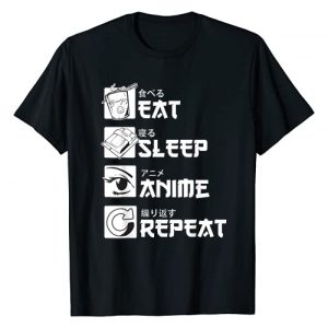 Anime Gifts Shirts Men Women Graphic Tshirt 1 Eat Sleep Anime Repeat Shirt, Anime Manga Shirts Gifts T-Shirt
