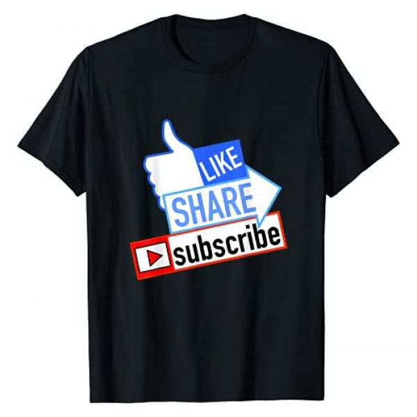 The Fun Merch Graphic Tshirt 1 Social Media Like Share Subscribe T-Shirt