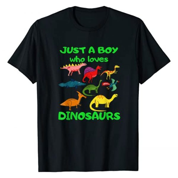 Dinosaurs Dinos Lovers T-shirts for Kids Toddlers Graphic Tshirt 1 Just A Boy Who Loves Dinosaurs T-shirt - Kids Dinosaur T-Shirt