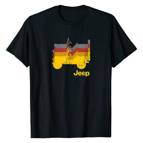 Jeep Graphic Tshirt 1 Willys Repeating Profile T-Shirt