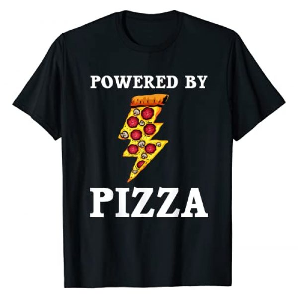 Cute Italian Foodie Eater Food Humor Quote Designs Graphic Tshirt 1 Funny Powered By Pizza Gift Kids Men Women Cool Pizza Lover T-Shirt