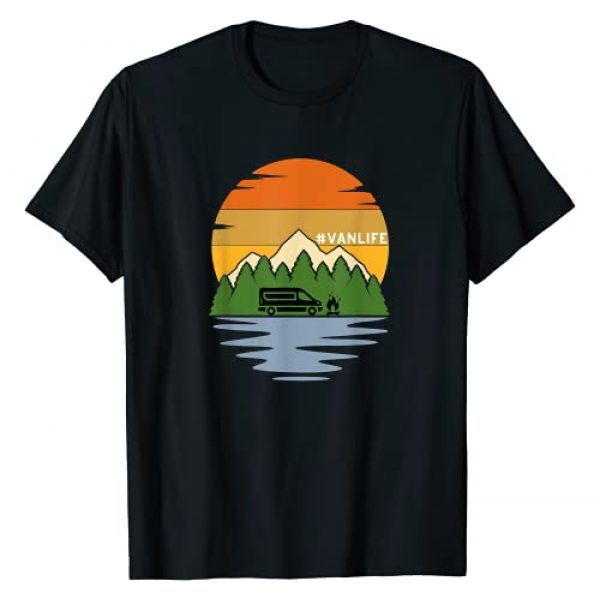 Retro Van Life Gift Happy Campers Graphic Tshirt 1 Van Life Retro Vintage Van Dwellers Vanlife Nomads Men Woman T-Shirt