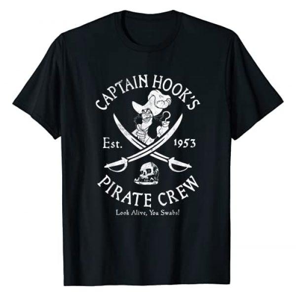 Disney Graphic Tshirt 1 Villains Captain Hook Pirate Crew Est 1953 Logo T-Shirt