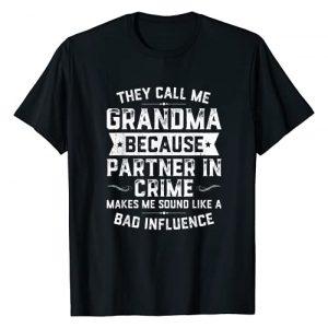 DaddyLuvv Clothing - TreOri Graphic Tshirt 1 Grandma Gifts They Call Me Grandma Because Partner In Crime T-Shirt