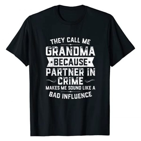 DaddyLuvv Clothing - TreOri Graphic Tshirt 1 Grandma Gifts They Call Me Grandma Because Partner In Crime T-Shirt