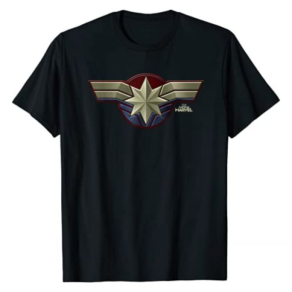Marvel Graphic Tshirt 1 Captain Marvel Movie Chest Symbol Graphic T-Shirt T-Shirt