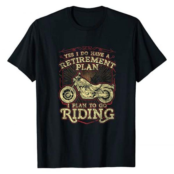 Retirement Tees by Threads Guru Graphic Tshirt 1 Retirement Gift Motorcycle Riders Biker T-Shirt
