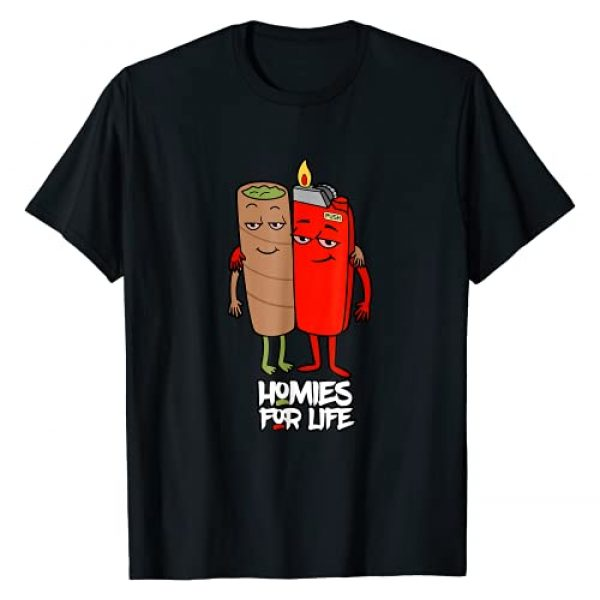 LezBCoffee Funny Homies for Life Weed Graphic Tshirt 1 Funny Homies for Life Weed T-Shirt